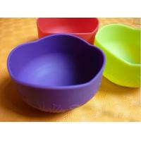 Wholesale Colorful Silicon Kitchenware Utensils / Cookware, Non-toxic Foldable Silicone Baby Bowl from china suppliers