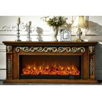 Wholesale Brown Painted TV Stand Electric Fireplace For Villa Hotel Restaurant from china suppliers