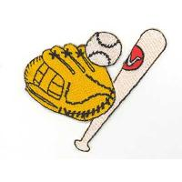 Wholesale Baseball Gear Iron On Sports embroidery badge from china suppliers