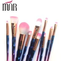 Wholesale Copper Ferrule Plating Rainbow Professional Makeup Brush Set Environment Friendly from china suppliers