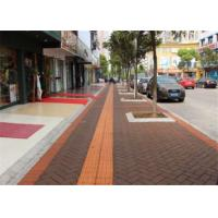 Wholesale Outside Walkway Red Clay Paving Brick for Road Paving Smooth Face / Low Water Absorption from china suppliers