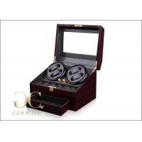 Wholesale PU Leather 4 Piece Battery Powered Watch Winder Boxes With Tempering Glass Top from china suppliers