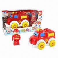 Wholesale B/O Funny Fire Engine Toy Car with Figurine, Made of ABS, Touchsensitive from china suppliers