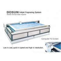 Wholesale 360DPI / 720DPI High Resolution Flatbed Inkjet Engraver / Textile Flat Inkjet Engraving Machine from china suppliers