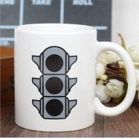 Wholesale Promotional Eco Friendly Mugs , Color Changing Coffee Cups Exquisite Traffic Logo from china suppliers