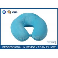 Wholesale Super Soft Velboa Pillow Case U Shape Memory Foam Neck Pillow / Contour Neck Pillow from china suppliers