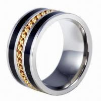 Wholesale Stainless Steel Ring, Ideal Everyone and Promotion Purpose, Various Designs Available from china suppliers