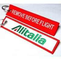 Wholesale Alitalia Italy Italia Keyring Tag keychain Remove Before Flight Keyring from china suppliers