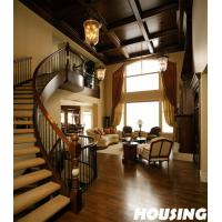 Wholesale Building Curved Staircase , Solid Wood Tread For Villa from china suppliers