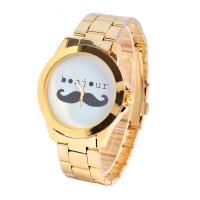 Wholesale Bonjour Moustache Metal Digital Watch Eco-friendly Alloy Material Gold Case from china suppliers