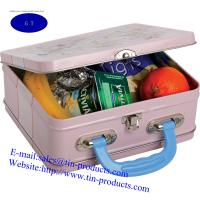 Quality Different Lunch Box , Metal handle Box , tin handle Box,Gift Handle Box form goldentinbox for sale