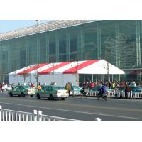 Wholesale 500 People Outdoor Display Trade Show Canopy Tent Red And White Stripe Clear Roof from china suppliers