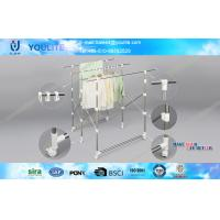 Wholesale Quilt Indoor Outdoor Metal Hanging Clothes Rack Three Layer Iron Telescopic from china suppliers