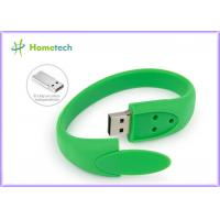 Wholesale Green Silicon Wristband Bracelet Usb Flash Drive 512MB 1GB  2.0 Pen Drive from china suppliers
