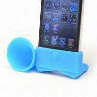 Wholesale Silicone Trumpet Holder Speaker Case for Apple's iPhone, Measuring 106 x 50 x 47mm from china suppliers