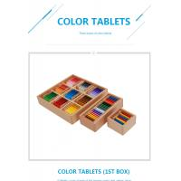 Wholesale Tiger Montessori - Color Tablets made of beech wood from china suppliers
