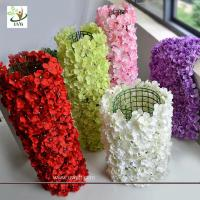 Wholesale UVG wall decoration flower backdrop in fake hydrangea petals for wedding backdrop ideas from china suppliers