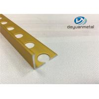 Wholesale Bright Golden Square Aluminium Floor Strips U Profile With Hole Punched from china suppliers