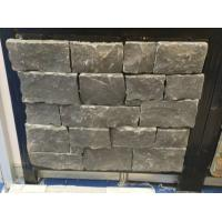 Wholesale Black Limestone Stone Veneer with Steel Wire Back,Black Stone Ledger Wall Cladding from china suppliers