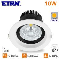 Wholesale ETRN Brand CREE COB LED 3 inch 10W LED Downlights Ceiling Lights Recessed lights from china suppliers