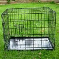 Wholesale Metal Pet cage, Dog Cage with Durable Plastic Tray, Heavy Duty and Two Doors from china suppliers