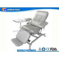 Buy cheap Adjustable Three Section Manual Reclining Tourniquet Blood Drawing Chair Light Grey from wholesalers
