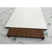 Quality Exterior Soffit Metal Ceiling System C - Shaped Wood Grain Suspended Ceiling Tiles for sale