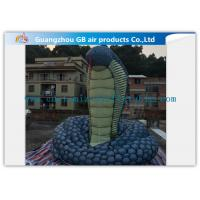 Buy cheap Giant Inflatable Cartoon Characters Snake Model With Silk Print , Hand Painting from wholesalers