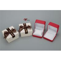 Wholesale Red PU Leather Bangle Box With White Pillow And Bowknot Outer Box from china suppliers