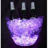 Wholesale Customized design Waterproof flashing rechargeable Led Ice bucket with logo for bar from china suppliers