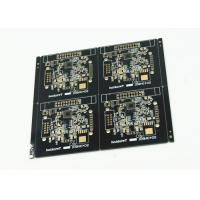 Wholesale Black Soldered Multilayer PCB White Legend 4 Pcs Arrayed Gold Finish from china suppliers