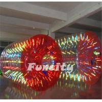 Wholesale 2.8mL x 2.2m Diameter Shining Human Hamster Inflatable Water Roller For Kid And Adult from china suppliers