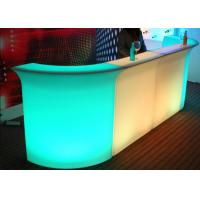 Wholesale Durable Beautiful Romantic Led Bar Furniture Flashing Club Counter PE High Level Materials from china suppliers