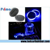Wholesale Solar Energy Car Truck Cup Holder Bottom Pad LED Light Cover Mouldings Trim Blue Light from china suppliers