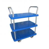 Wholesale Double LayersMobile Folding Platform Cart , Collapsible Rolling Cart With Wheels from china suppliers