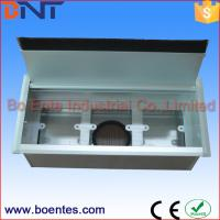 Wholesale Media Cables Interconnect Conference Table Electrical Sockets Box Flip Up Silver Color from china suppliers