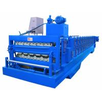 Wholesale Automatic PLC Frequency Control Double Layer Roofing Sheet Roll Forming Machine from china suppliers