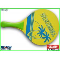 Wholesale Custom Shape MDF Poplar Wooden Beach Rackets with Plastic Handle from china suppliers