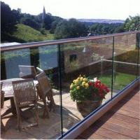 Wholesale Clear view frameless glass balustrade fittings with U base Channel from china suppliers