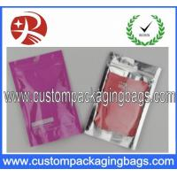 Wholesale Front clear and back foil Plastic Ziplock Bags , SGS Zipper Plastic Bags from china suppliers