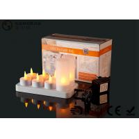 Wholesale 4set / 6set / 8set / 12set Rechargeable Tea Lights With Remote Control from china suppliers