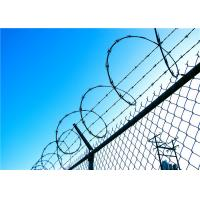 Wholesale Fencing Concertina High Security Razor Wire With Chain Link / Razor Blade Barbed Wire from china suppliers