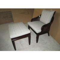 Wholesale Wooden Lounge Chair For Living Room , Transitional Accent Chair with Ottoman from china suppliers
