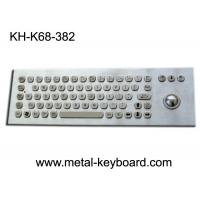 Wholesale 68 Keys Ruggedized Keyboard / Metal Computer Keyboard with Laser Trackball from china suppliers