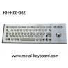 Buy cheap 67 Keys Ruggedized Keyboard / Metal Computer Keyboard with Laser Trackball from wholesalers