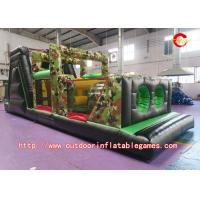 Wholesale Commercial Giant Adult Inflatable Obstacle Course With 0.55mm PVC Tarpaulin Material from china suppliers