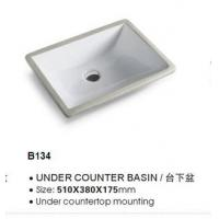 Wholesale Single Hole Pedestal Wash Basin Easy to Clean Size: 610 * 460 * 150mm from china suppliers