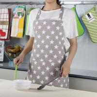 Wholesale Customized Bib Style Women Kitchen Apron / Custom Cooking Apron with Five - pointed Star from china suppliers