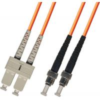 Wholesale multimode Duplex Fiber Optic Patch Cable 3M ST-SC 50/125 Orange from china suppliers