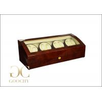 Wholesale Custom Ebony Wooden Quad Watch Winder Box For Automatic Watches from china suppliers
